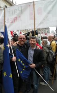 Piero Graglia e Ivan Scalfarotto, 25 aprileritagliata